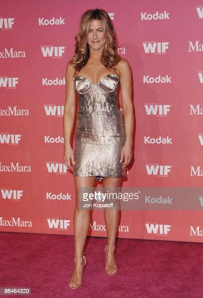 Actress Jennifer Aniston arrives at the 2009 Women in Film Crystal Lucy Awards at Hyatt Regency Century Plaza on June 12 2009 in Century City United...