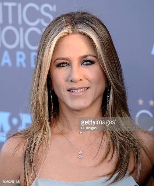 Actress Jennifer Aniston arrives at the 21st Annual Critics' Choice Awards at Barker Hangar on January 17 2016 in Santa Monica California