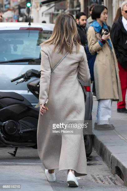 Actress Jennifer Aniston arrives at the 'Colette' store on April 14 2017 in Paris France