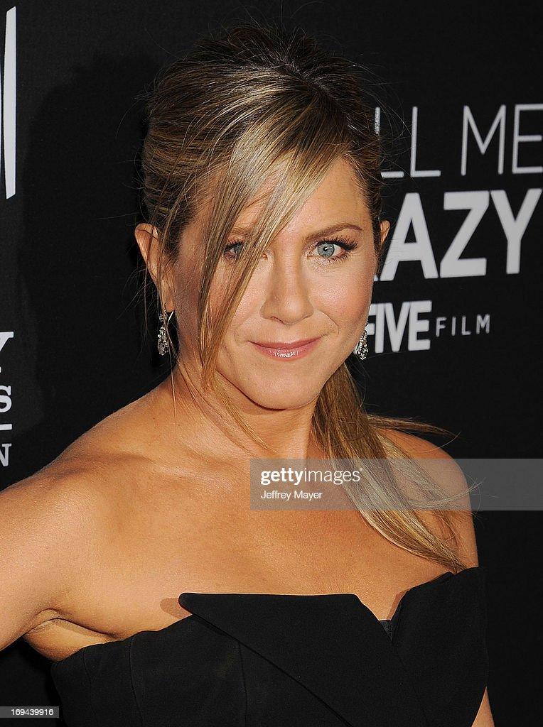 Actress Jennifer Aniston arrives at the Lifetime movie premiere of 'Call Me Crazy: A Five Film' at Pacific Design Center on April 16, 2013 in West Hollywood, California.