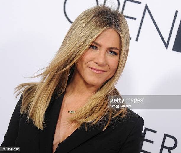 Actress Jennifer Aniston arrives at the Open Roads World Premiere Of 'Mother's Day' at TCL Chinese Theatre IMAX on April 13 2016 in Hollywood...