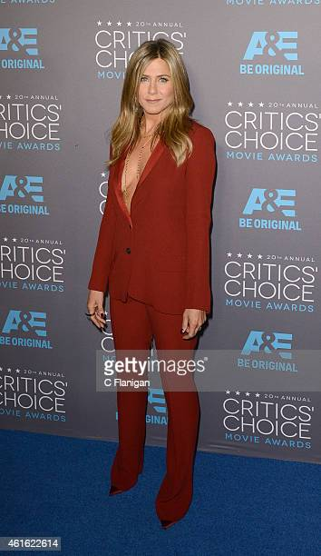 Actress Jennifer Aniston arrives to The 20th Annual Critics' Choice Movie Awards at Hollywood Palladium on January 15 2015 in Los Angeles California