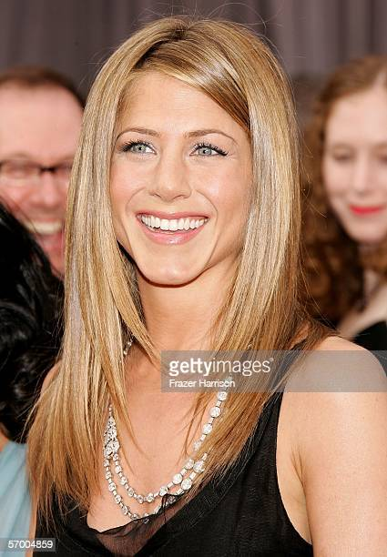 Actress Jennifer Aniston arrives to the 78th Annual Academy Awards at the Kodak Theatre on March 5 2006 in Hollywood California