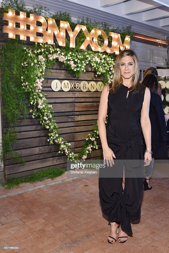 Actress Jennifer Aniston attends Barneys New York Jennifer Aniston and Tobey Maguire host a private dinner to celebrate The Barneys New York XO...