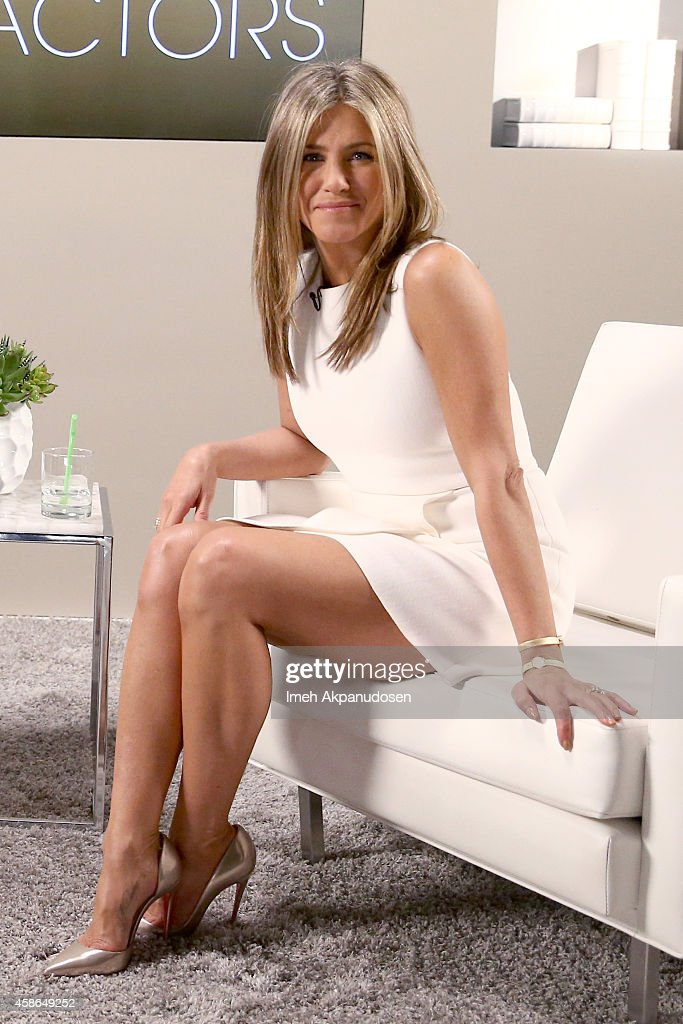 Actress <a gi-track='captionPersonalityLinkClicked' href=/galleries/search?phrase=Jennifer+Aniston&family=editorial&specificpeople=202048 ng-click='$event.stopPropagation()'>Jennifer Aniston</a> attends day one of Variety Studio: Actors On Actors presented by Samsung Galaxy on November 8, 2014 in Los Angeles, California.