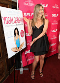Actress Jennifer Aniston attends SELF Magazine and Jennifer Aniston's celebration of Mandy Ingber's new book 'Yogalosophy 28 Days to the Ultimate...