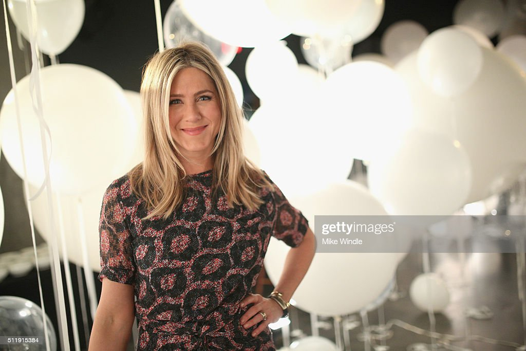 Actress Jennifer Aniston attends smartwater sparkling celebrates Jennifer Aniston and St Jude's Children's Hospital at W Hollywood on February 23...