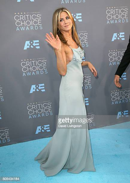 Actress Jennifer Aniston attends The 21st Annual Critics' Choice Awards at Barker Hangar on January 17 2016 in Santa Monica California