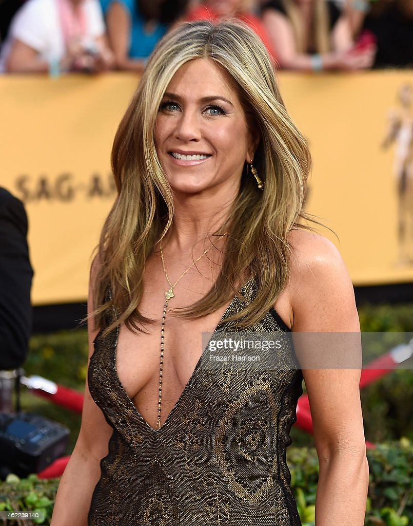 Actress <a gi-track='captionPersonalityLinkClicked' href=/galleries/search?phrase=Jennifer+Aniston&family=editorial&specificpeople=202048 ng-click='$event.stopPropagation()'>Jennifer Aniston</a> attends the 21st Annual Screen Actors Guild Awards at The Shrine Auditorium on January 25, 2015 in Los Angeles,California.