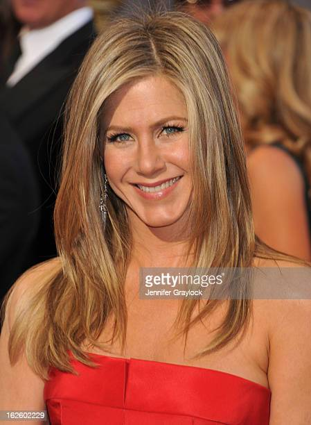 Actress Jennifer Aniston attends the 85th Annual Academy Awards held at the Hollywood Highland Center on February 24 2013 in Hollywood California