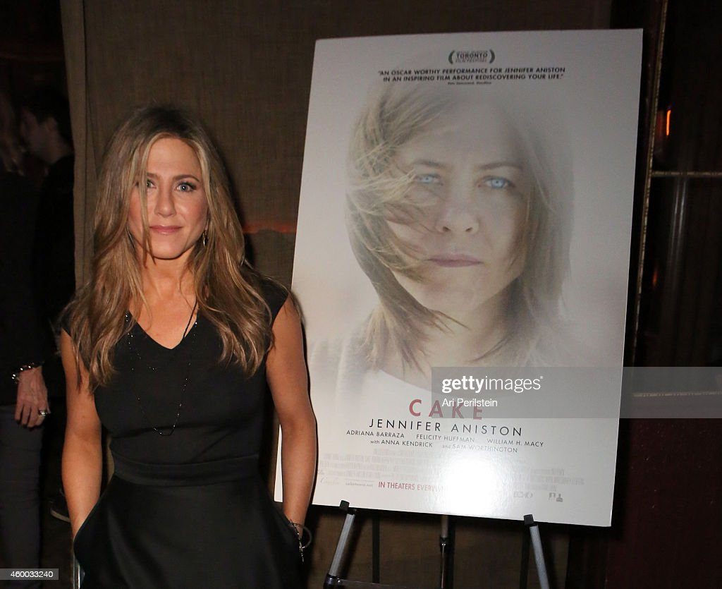 Actress Jennifer Aniston attends the CAKE party for Jennifer Aniston hosted by PerrierJouet And Cinelou Films at Chateau Marmont's Bar Marmont on...