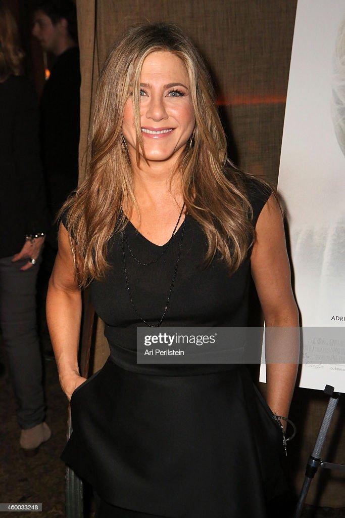 Actress <a gi-track='captionPersonalityLinkClicked' href=/galleries/search?phrase=Jennifer+Aniston&family=editorial&specificpeople=202048 ng-click='$event.stopPropagation()'>Jennifer Aniston</a> attends the CAKE party for <a gi-track='captionPersonalityLinkClicked' href=/galleries/search?phrase=Jennifer+Aniston&family=editorial&specificpeople=202048 ng-click='$event.stopPropagation()'>Jennifer Aniston</a> hosted by Perrier-Jouet And Cinelou Films at Chateau Marmont's Bar Marmont on December 5, 2014 in Hollywood, California.