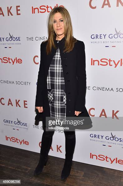 Actress Jennifer Aniston attends the 'Cake' screening hosted by The Cinema Society Instyle at Tribeca Grand Hotel on November 16 2014 in New York City