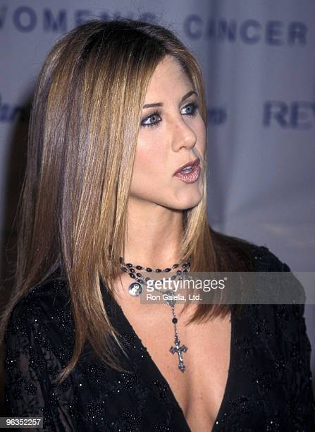 Actress Jennifer Aniston attends the Eighth Annual Fire and Ice Ball to Benefit Revlon/UCLA Women's Cancer Research Program on December 3 1997 at...