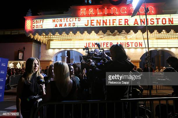 Actress Jennifer Aniston attends the Montecito Award honoring Jennifer Aniston at the Arlington Theater at the 30th Santa Barbara International Film...