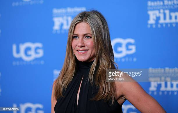 Actress Jennifer Aniston attends the Montecito Award honoring Jennifer Aniston during the 30th Santa Barbara International Film Festival at the...