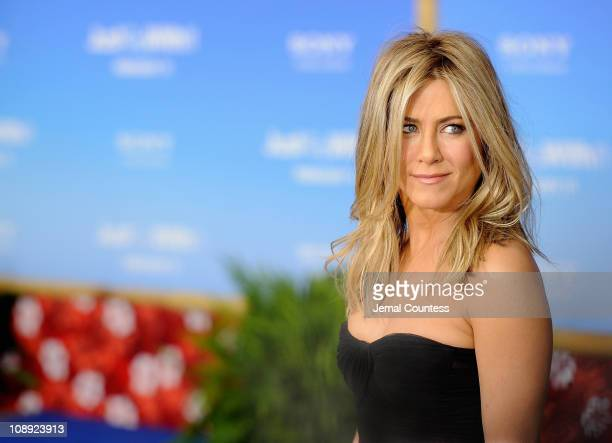 Actress Jennifer Aniston attends the premiere of 'Just Go With It' at Ziegfeld Theatre on February 8 2011 in New York City