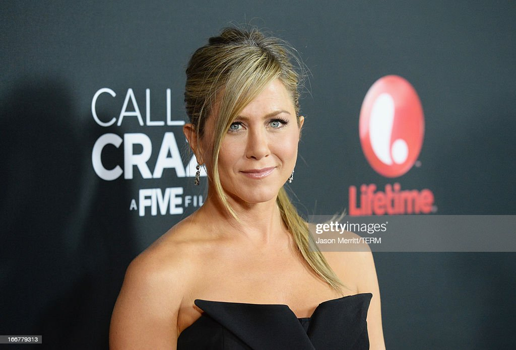 Actress Jennifer Aniston attends the premiere of Lifetime's 'Call Me Crazy: A Five Film' at Pacific Design Center on April 16, 2013 in West Hollywood, California.