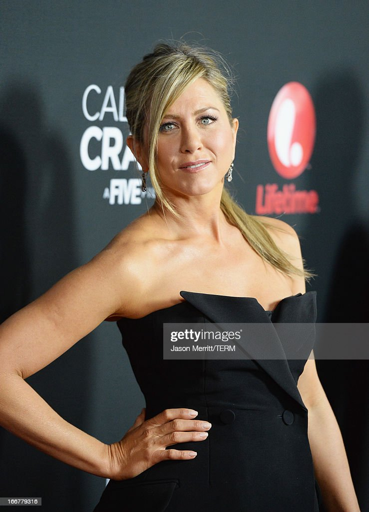 Actress <a gi-track='captionPersonalityLinkClicked' href=/galleries/search?phrase=Jennifer+Aniston&family=editorial&specificpeople=202048 ng-click='$event.stopPropagation()'>Jennifer Aniston</a> attends the premiere of Lifetime's 'Call Me Crazy: A Five Film' at Pacific Design Center on April 16, 2013 in West Hollywood, California.