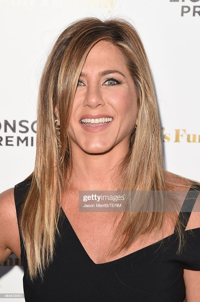 Actress Jennifer Aniston attends the premiere of Lionsgate Premiere's 'She's Funny That Way' at Harmony Gold on August 19, 2015 in Los Angeles, California.