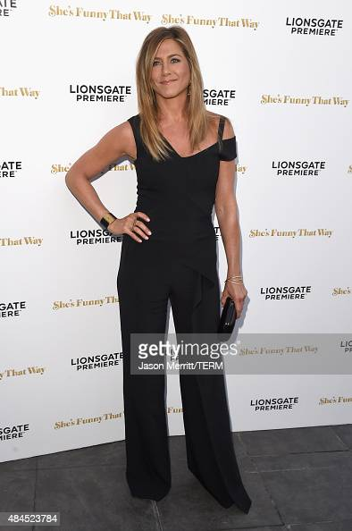 Actress Jennifer Aniston attends the premiere of Lionsgate Premiere's 'She's Funny That Way' at Harmony Gold on August 19 2015 in Los Angeles...