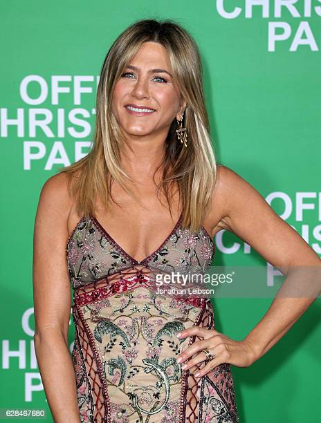 Actress Jennifer Aniston attends the LA Premiere of Paramount Pictures 'Office Christmas Party' at Regency Village Theatre on December 7 2016 in...