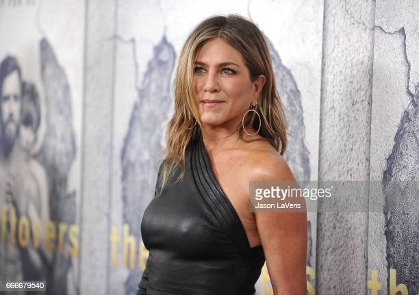 Actress Jennifer Aniston attends the season 3 premiere of 'The Leftovers' at Avalon Hollywood on April 4 2017 in Los Angeles California