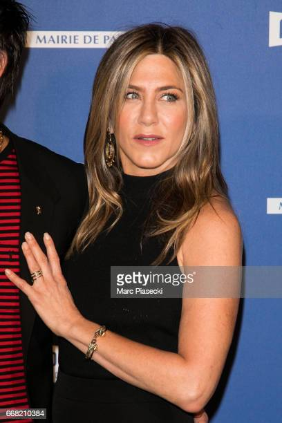 Actress Jennifer Aniston attends the 'Series Mania Festival' opening night at Le Grand Rex on April 13 2017 in Paris France
