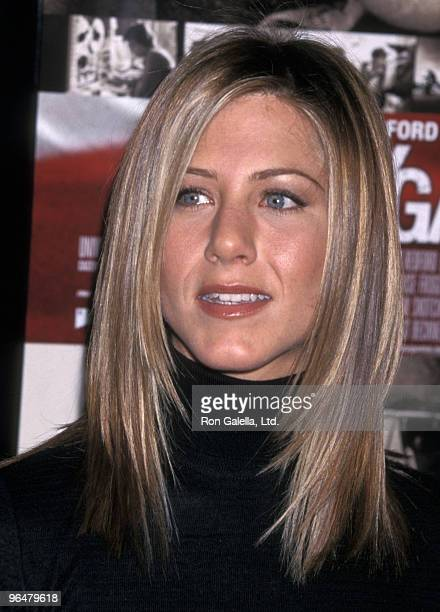 Actress Jennifer Aniston attends the 'Spy Game' Westwood Premiere on November 19 2001 at Mann National Theatre in Westwood California