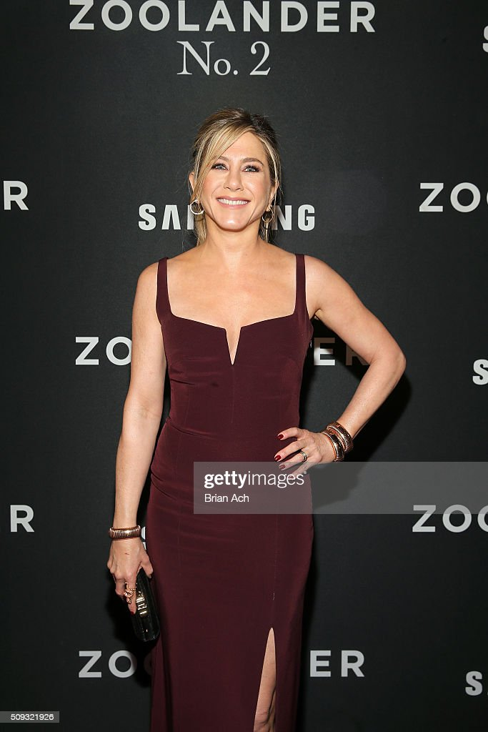 Actress <a gi-track='captionPersonalityLinkClicked' href=/galleries/search?phrase=Jennifer+Aniston&family=editorial&specificpeople=202048 ng-click='$event.stopPropagation()'>Jennifer Aniston</a> attends the 'Zoolander No. 2' World Premiere at Alice Tully Hall on February 9, 2016 in New York City.