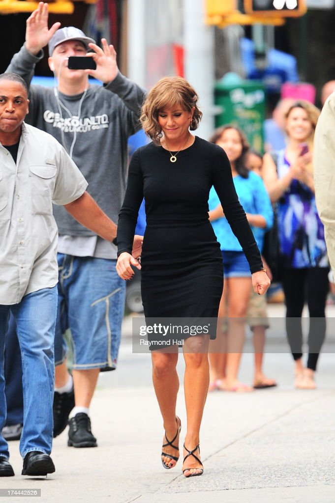 Actress Jennifer Aniston is seen on the set of 'Squirrels to the Nuts'on July 25, 2013 in New York City.