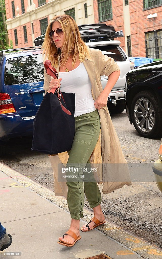 Actress Jennifer Aniston is seen walking in Soho on June 16 2016 in New York City