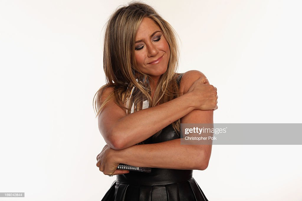 Actress <a gi-track='captionPersonalityLinkClicked' href=/galleries/search?phrase=Jennifer+Aniston&family=editorial&specificpeople=202048 ng-click='$event.stopPropagation()'>Jennifer Aniston</a> poses for a portrait during the 39th Annual People's Choice Awards at Nokia Theatre L.A. Live on January 9, 2013 in Los Angeles, California.