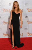 Actress Jennifer Aniston poses in the press room at the 67th Annual Golden Globe Awards held at The Beverly Hilton Hotel on January 17 2010 in...