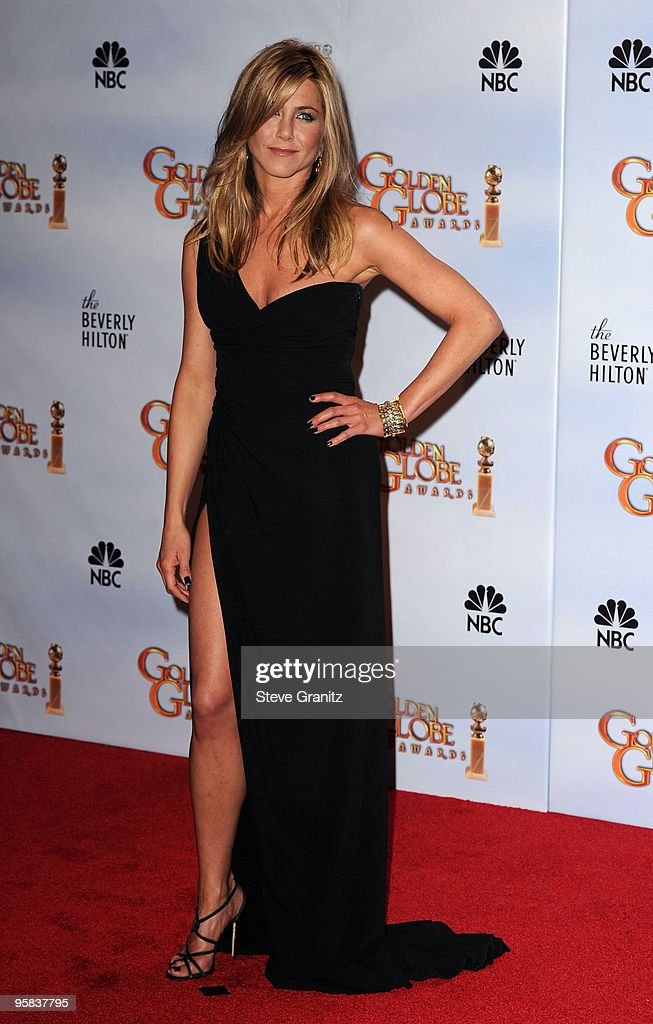 Actress Jennifer Aniston poses in the press room at the 67th Annual Golden Globe Awards at The Beverly Hilton Hotel on January 17 2010 in Beverly...