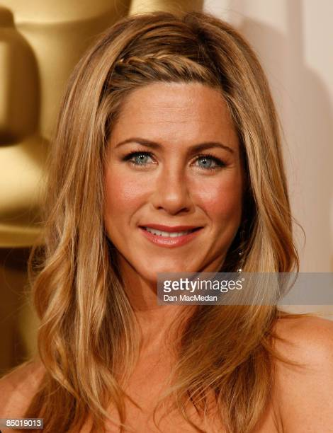 Actress Jennifer Aniston poses in the press room at the 81st Academy Awards at The Kodak Theatre on February 22 2009 in Hollywood California