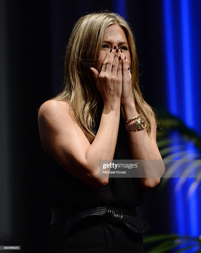 Actress Jennifer Aniston presents onstage after receiving the Montecito Award at The Santa Barbara International Film Festival on January 30 2015 in...