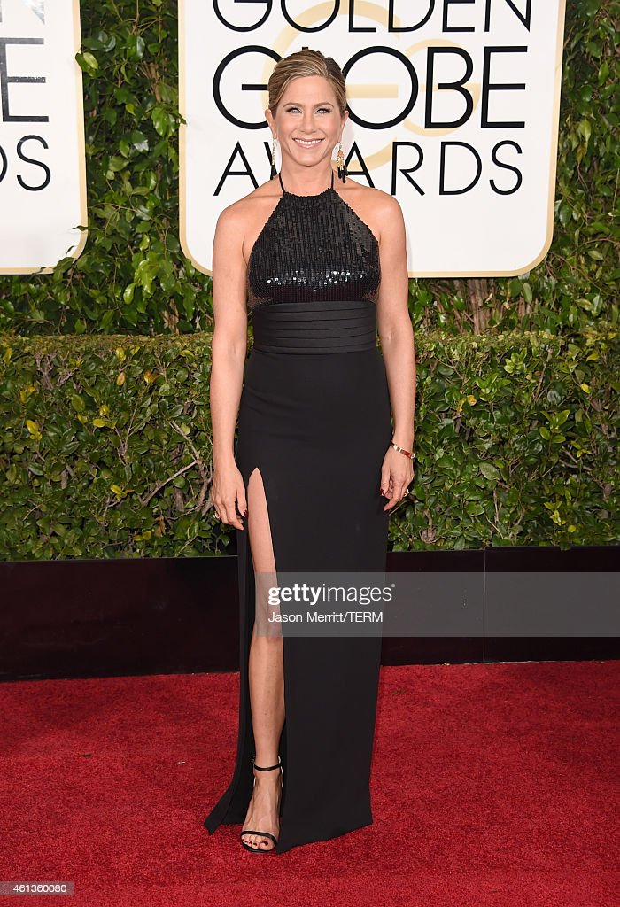 Actress <a gi-track='captionPersonalityLinkClicked' href=/galleries/search?phrase=Jennifer+Aniston&family=editorial&specificpeople=202048 ng-click='$event.stopPropagation()'>Jennifer Aniston</a> attends the 72nd Annual Golden Globe Awards at The Beverly Hilton Hotel on January 11, 2015 in Beverly Hills, California.