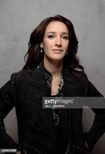 Actress Jennifer Beals from the film 'Before I Fall' is photographed at the 2017 Sundance Film Festival for Los Angeles Times on January 19 2017 in...
