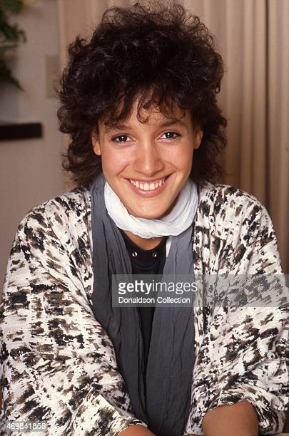 Actress Jennifer Beals poses for a portrait on April 29 1983 in Los Angeles California