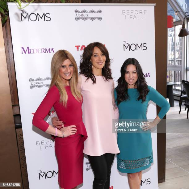 Actress Jennifer Beals 'The Moms' Denise Albert and Melissa Musen Gerstein attend Mamarazzi In Conversation with Jennifer Beals held at Upstairs NYC...