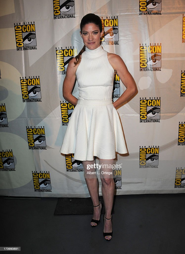 Actress <a gi-track='captionPersonalityLinkClicked' href=/galleries/search?phrase=Jennifer+Carpenter&family=editorial&specificpeople=595643 ng-click='$event.stopPropagation()'>Jennifer Carpenter</a> attends Showtime's 'Dexter' panel during Comic-Con International 2013 at San Diego Convention Center on July 18, 2013 in San Diego, California.