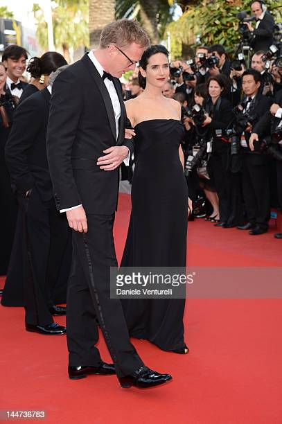 Actress Jennifer Connelly and husband Paul Bettany attend the Once Upon A Time Premiere during the 65th Annual Cannes Film Festival on May 18 2012 in...