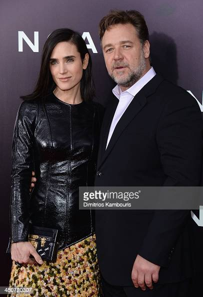 Actress Jennifer Connelly and Russell Crowe attend the 'Noah' New York premiere at Ziegfeld Theatre on March 26 2014 in New York City
