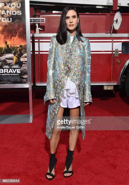 Actress Jennifer Connelly arrives at the premiere of 'Only the Brave' at Regency Village Theatre on October 8 2017 in Westwood California