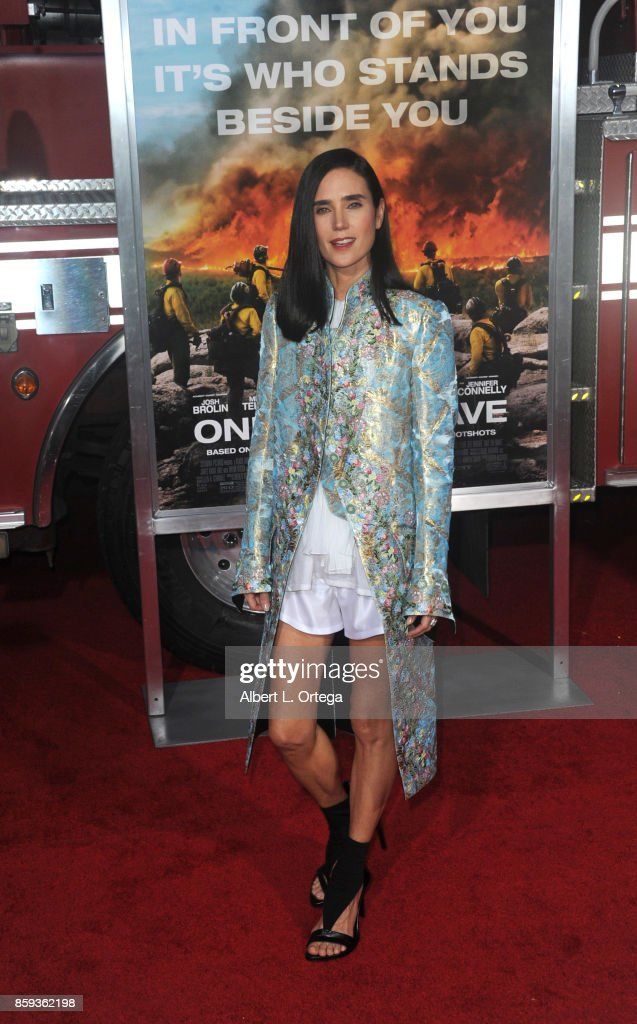 Actress Jennifer Connelly arrives for the Premiere Of Columbia Pictures' 'Only The Brave' held at Regency Village Theatre on October 8, 2017 in Westwood, California.