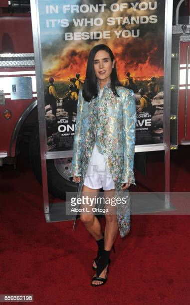 Actress Jennifer Connelly arrives for the Premiere Of Columbia Pictures' 'Only The Brave' held at Regency Village Theatre on October 8 2017 in...