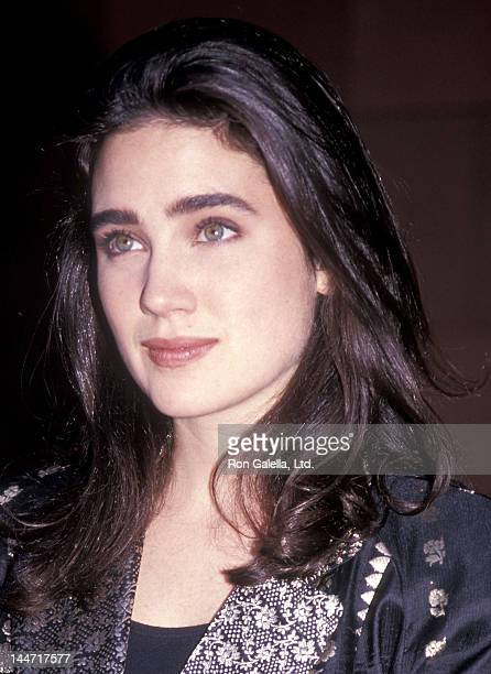 Actress Jennifer Connelly attend 'The Rocketeer' Burbank Premiere on June 22 1991 at the Walt Disney Studios in Burbank California