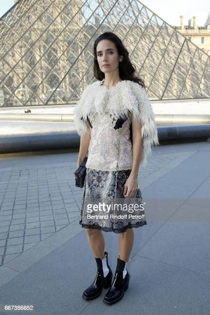 Actress Jennifer Connelly attends the 'LVxKOONS' exhibition at Musee du Louvre on April 11 2017 in Paris France
