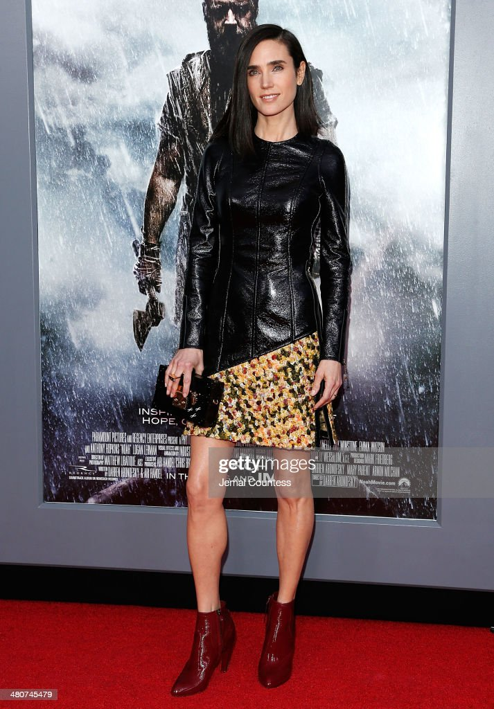 Actress <a gi-track='captionPersonalityLinkClicked' href=/galleries/search?phrase=Jennifer+Connelly&family=editorial&specificpeople=201581 ng-click='$event.stopPropagation()'>Jennifer Connelly</a> attends the New York Premiere of 'Noah' at Clearview Ziegfeld Theatre on March 26, 2014 in New York City.